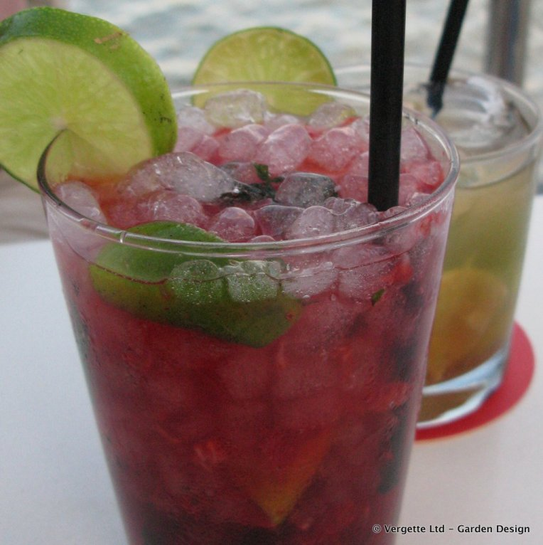 Strawberry Mojito and Caipirinha