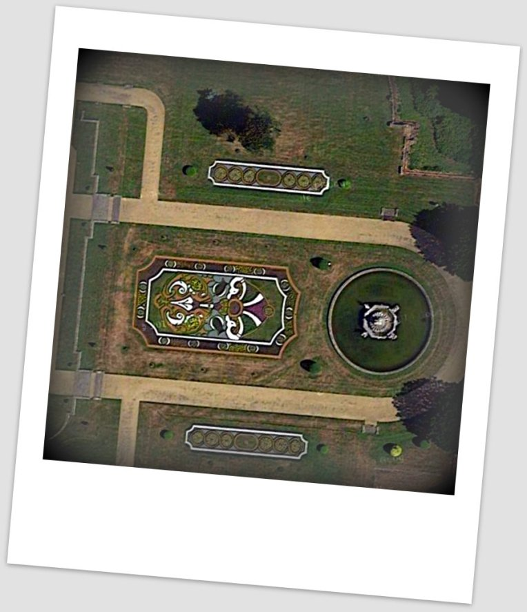 Areal view of East Parterre